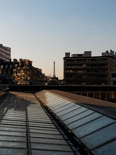 Vue depuis le toit de la Gare Montparnasse / View from the roof of Montparnasse train station