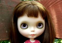 Bronwyn's new handpainted violet eyes