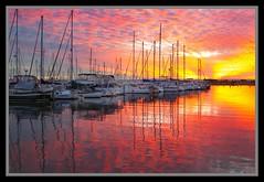 Sunset reflection on Marina-3=