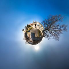 Fürstenwallpark (diwan) Tags: sky canon germany geotagged roundabout himmel explore magdeburg planet ptgui equirectangular 2013 magdeburgerdom geo:lon=11636559 fürstenwallpark geo:lat=52124191