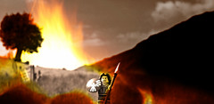 """""""Win the battle or perish, that is what I, a woman, will do."""" (Squatbetty) Tags: lego lakedistrict cumbria blockheads thelakedistrict boudica minifigures warriorwoman littlelangdale"""