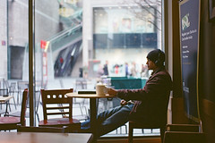 Relax in Coffee Time (a l e x . k) Tags: england film liverpool pentax starbucks lx liverpoolone fa43mmf19