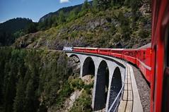 RhB Landwasserviadukt (Switzerland) (Swiss.PIX) Tags: world bridge red rot heritage train schweiz switzerland suisse suiza swiss railway zug unesco viaduct suíça pont svizzera albula brücke worldheritage weltkulturerbe switserland ferrocarril 瑞士 ferrovia zwitserland rhb bernina isviçre rhätische kolej graubünden rhätischebahn svizra szwajcaria スイス landwasserviadukt filisur berninaexpress švýcarsko سويسرا швейцария ελβετία შვეიცარია швейца́рия ประเทศสวิสเซอร์แลนด์ желе́зная доро́га स्विजरलैंड švice
