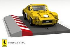 Ferrari 275 GTB/C Berlinetta (lego911) Tags: auto italy classic car model italian lego render ferrari 1960s 69 coupe challenge cad sportscar racer lugnuts gtb povray 275 v12 moc berlinetta ldd gtb4 miniland gtbc summerof69 lego911