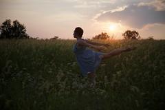 Ballet (glenrichards) Tags: sunset portrait people ballet woman girl field landscape person nikon ballerina dancing emotion dancer nikkor d600 2485mm