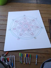 Heptagram: alchemical symbolism (anselm23) Tags: illustration creativity mandala diagram occult alchemy sharpiemarkers uploaded:by=flickrmobile flickriosapp:filter=nofilter westernmysterytradition