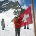 DSCN1716 (2006 July) atop the Aletsch Glacier in front of Jungfrau Mountain