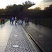 Maya Lin, Vietnam Veterans Memorial at sunset