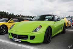 Ferrari 599 GTB (Chris Droesch) Tags: green canon eos foil wrap ferrari racing days hockenheim matte gtb hockenheimring 599 2013 40d