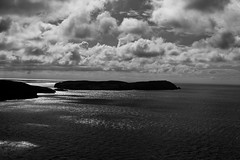 Calf of Man (The_Kevster) Tags: leica light sea sky blackandwhite bw heritage monochrome clouds vintage landscape island coast seaside waves shadows rangefinder cliffs mann isleofman manx porterin braddahead summicron50mm calfofman ellanvannin leicam9