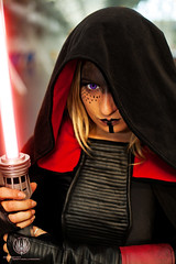 Sith @ Winter LFCC 2013 (saroston) Tags: winter cookies dark photography star costume all cosplay side lord we cloak lightsaber wars say sith apprentice 2013 lfcc so