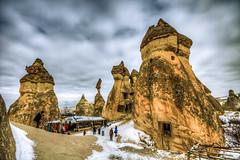 Pasabagi, Cappadocia (Nejdet Duzen) Tags: trip travel winter snow nature turkey trkiye kar cappadocia greme kapadokya rgp k turkei seyahat nevehir doa peribacas