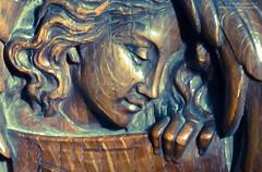 Saint Mary 10 (hoobgoobliin) Tags: wood uk boss england church saint mary carving lincolnshire stamford pew