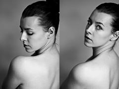 Tijela (lenehuse) Tags: portrait blackandwhite selfportrait face closeup intense body thebody pure softlight mybody