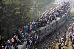 An overcrowded train in Bangladesh (Munir Uz Zaman/AFP/Getty Images)