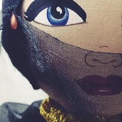 close up of belly dancer face (A Little Vintage) Tags: face bellydancer artdoll alittlevintage