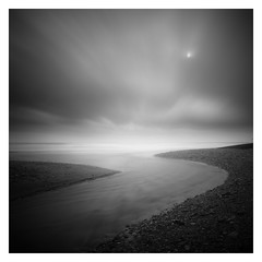 Outflow (picturedevon.co.uk) Tags: longexposure sea storm southwest beach monochrome blackwhite waves unitedkingdom overcast le squareformat dorset minimalist fineartphotography westcountry 2014 charmouth 10stopnd bigstopper canoneos5dmk2 wwwpicturedevoncouk takenbydavidhixon