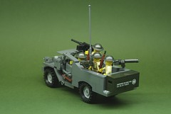 M3A1 Scout Car - US Army - Early War (3) (Dunechaser) Tags: usa white car army unitedstates lego military scout worldwarii armor ww2 armored worldwar2 m3a1 brickarms