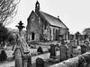 old church (road rebel 1) Tags: blackandwhite white black building church landscape gravestone gravestones placeofworship placeofprayer