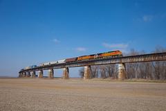 BNSF 5422 CSX Q515 Rahm IN 09 Mar 2014 (Train Chaser) Tags: sub henderson bnsf csx bnsf5422 csxq515