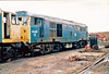 31425 (marcus.45111) Tags: train diesel railway 1993 booths scrapyard britishrail rotherham goyle class31 brblue 31274 ukbuilt classictraction d5804