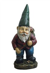 Garden gnome with basket on shoulder (JamesHou0411) Tags: buddha gardengnome gardenstatuary