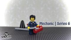 mechanic | series 6 (Peter von Kappel) Tags: 6 smile lego mechanic ralph raph wrench toolbox minifigure series6
