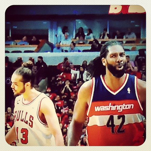 Nene after roasting Joakim for the last time.... Hearts were broken and pints of ice cream were likely used to comfort them. #Wizards-#Bulls