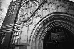 0015 Leeds University Great Hall (I  Minox) Tags: leeds olympus ilford om1 olympusom1 2014 panf ilfordpanfplus