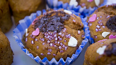 Magdalenas desenfocadas / cupcake Macro
