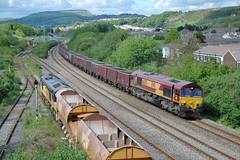 Busy times at Briton Ferry. 13/5/14 (Nick Wilcock) Tags: wales cardiff logs db chirk coal railways dbs class66 colas ews 668 onllwyn class56 britonferry 56078 56113 66075 66849 eastusk dbschenker baglanbay colasrail gwauncaegurwen wylamdilly 6m54 colasrailfreight 6o70 6w10