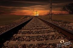 Atardecer vias del tren azaila (Sediles) Tags: sol train tren atardecer rojo afternoon zaragoza naranja tarde vias viasdeltren zgz azaila sediles adriansediles blogadriansedileses