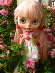 IMG_6288...Heaven loves the pink blossoms in her new pink flowered dress.