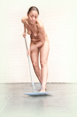 Sweeping up (Brian L55) Tags: woman nude movement action