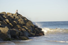 early mornings (ethancas_) Tags: ocean beach early rocks sandy watching large mornings swell groyne bodyboarding floreat
