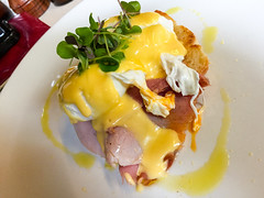 Eggs Benedict at Patch Cafe in Richmond (ultrakml) Tags: cameraphone food breakfast bacon egg australia melbourne victoria richmond iphone poached benedict iphone6 patchcafe