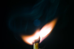 Lighten up. 3/6 (Adaptalux) Tags: detail macro studio fire photography warm flame burnt heat match spark lighten adaptalux