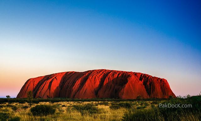 Sunset at Uluru (Australia)