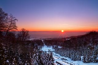kassel winter sunrise