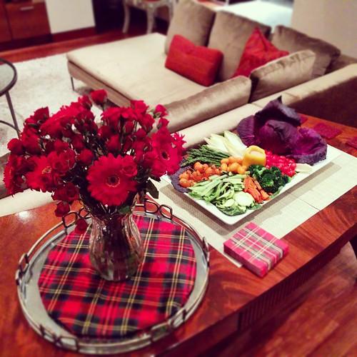 #tartan #veggieplatter #veggies #scotchnight