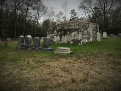 Where the grave would be (abandonedplaces68) Tags: ri history church grave graveyard island cool vampire tomb tombstone graves historic haunted l nellie vaughn rhode vampires scay