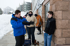 returning equipment (brianficker) Tags: chris usa snow jay erin wv skiresort westvirginia snowshoemountain