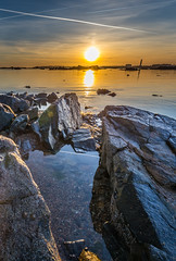 St. Clements, low tide. (Tim_Horsfall) Tags: ocean uk light sunset sea sky seaweed water beautiful st clouds canon landscape eos coast is seaside sand rocks colours outdoor tide jersey usm clements 6d f4l ef1635mm