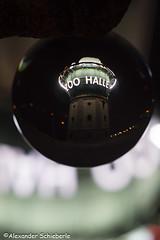 0009Kugelfoto 21. Mai 2016_web (Kugelzauber) Tags: amazing halle crystalball hallelujah glaskugel hallesaale dieweltstehtkopf glaskugelbild kugelfotografie kugelzauber