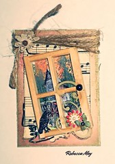 2016 - 365 ATC/Art Challenge (n2photos2009) Tags: music flower bird art window atc artisttradingcard ink paper wire jewels challenge jute n2photosrmay may2016