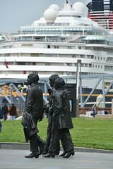Cruising (18mm & Other Stuff) Tags: england liverpool nikon statues cruiseship gb johnlennon thebeatles d7200 pierheaduk