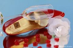 Spring Love (Michelle Christin) Tags: red sun white macro rot rose canon mirror shoes highheel pumps heart spiegel chic elegant stiletto makro sonne herz schuhe nobel lack elegance sektglas champagneglass
