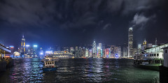 Victoria Harbour in Hong Kong (Dan Augood) Tags: china panorama harbour victoria hong kong wan chai autopano