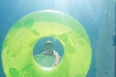Hey Summer, Are You Here Yet? (aaronrhawkins) Tags: boy summer water pool swimming swim underwater bottom bubbles lookup float memorialday waterproof divingboard floatring