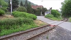 BE Diesellocomotives N D1 and D2 with a tourist train leaving the station of Niederzissen. (Franky De Witte - Ferroequinologist) Tags: de eisenbahn railway estrada chemin fer spoorwegen ferrocarril ferro ferrovia